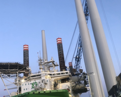Hornsea one, offshore pre-assembly, UK